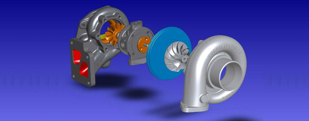 Модель турбины автомобиля